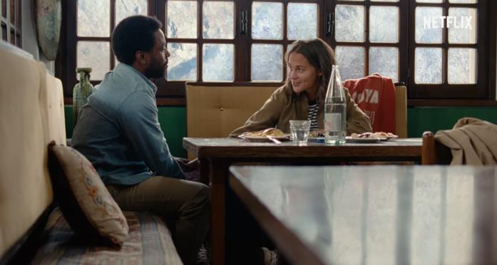 Beckett e April a pranzo