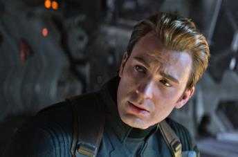 Chris Evans come Captain America in Endgame