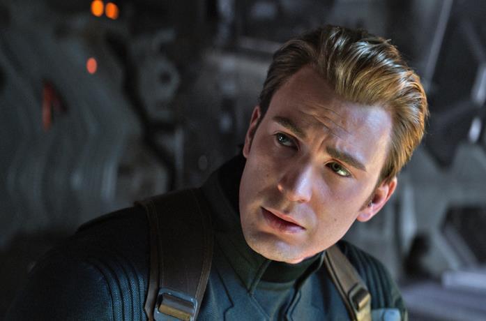 Chris Evans come Captain America in Endgame