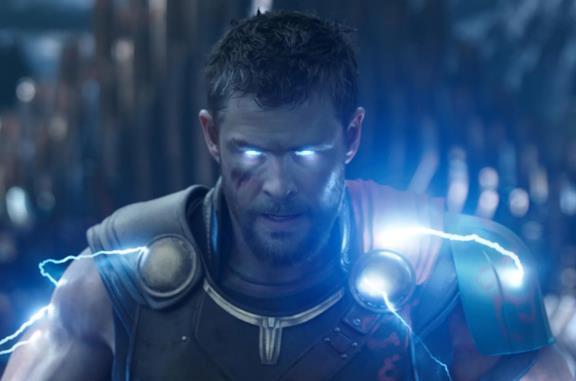 Un'immagine di Thor in Thor: Ragnarok