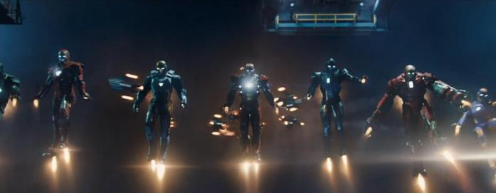 Iron Man 3 e alcune armature