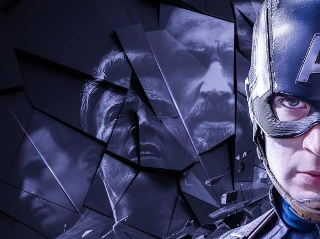 Poster di Avengers: Endgame dedicato a Capitan America