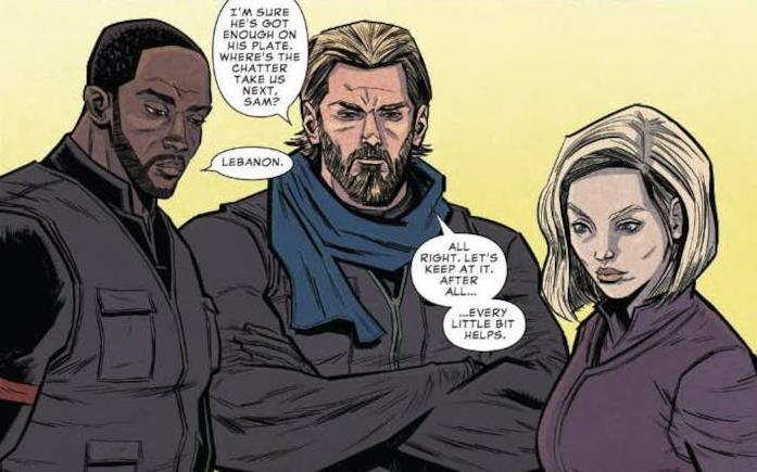 Falcon, Captain America e la Vedova Nera nel fumetto prequel di Infinity War