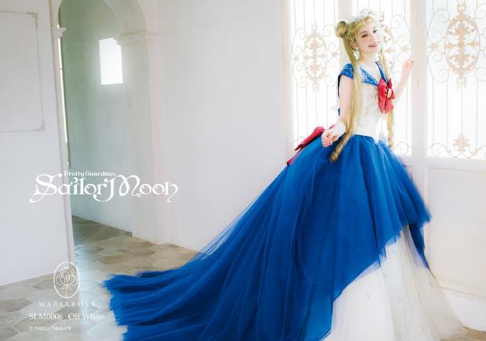 L'abito da sposa Sailor Moon con i colori della guerriera