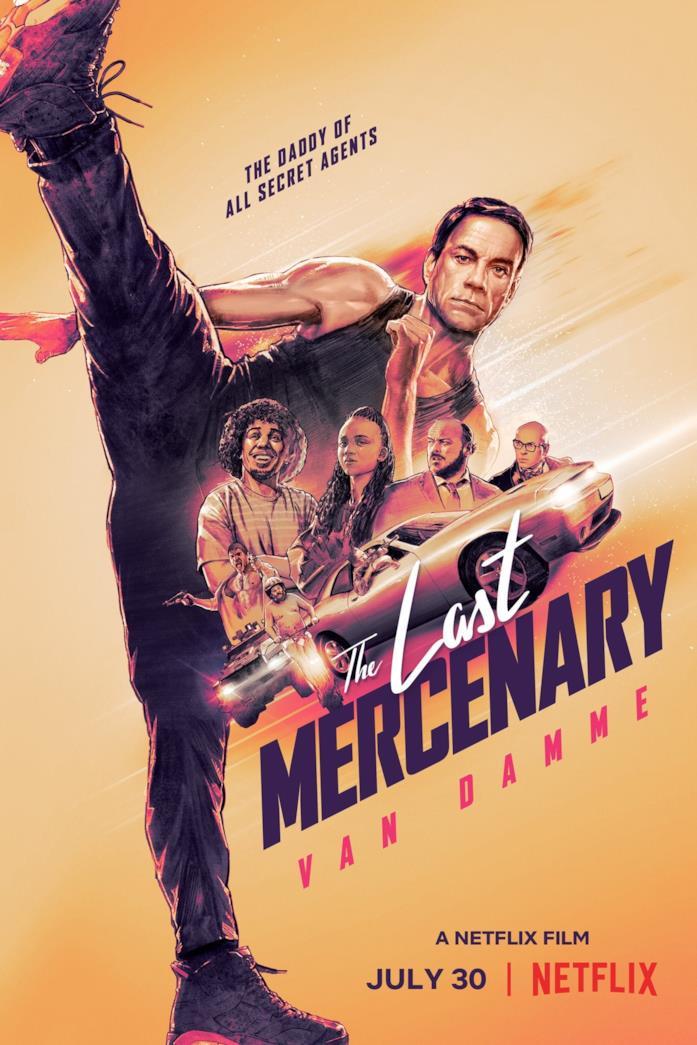 Jean-Claude Van Damme e il cast nella locandina de L'ultimo mercenario