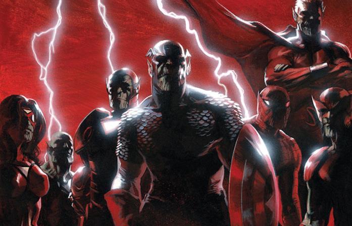 Dettaglio della cover di Secret Invasion #1