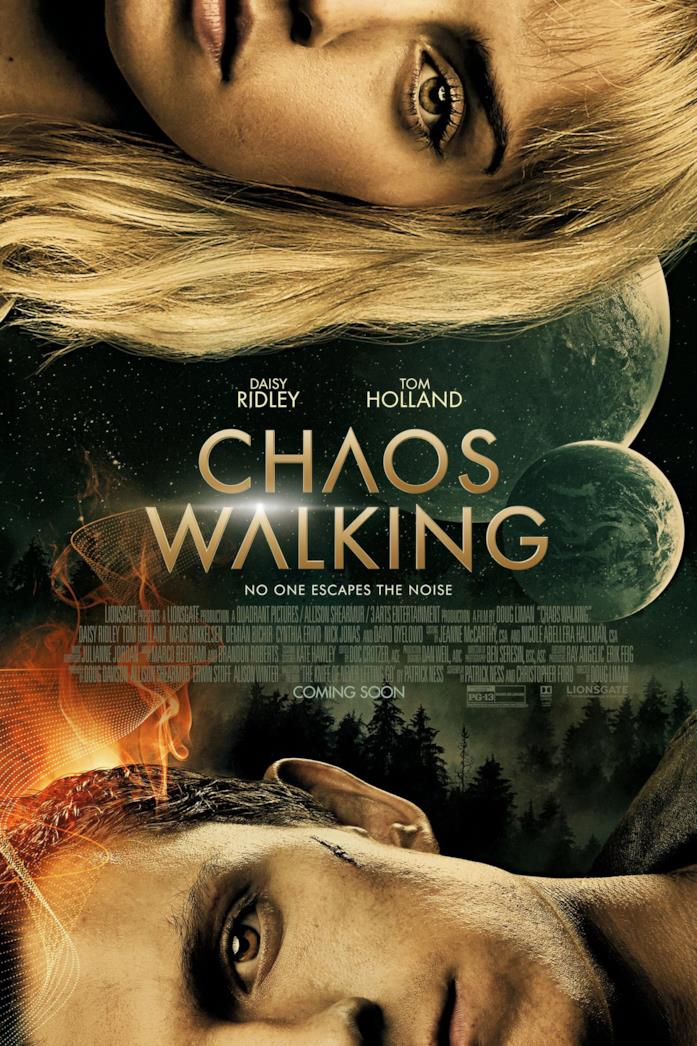 Tom Holland e Daisy Ridley nel poster di Chaos Walking