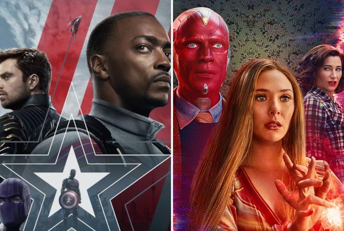 I protagonisti di The Falcon and the Winter Soldier e WandaVision