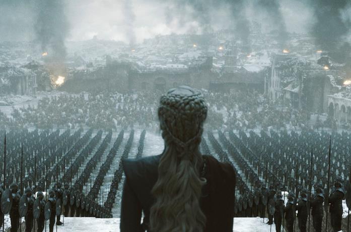 Daenerys Targaryen nel finale di Game of Thrones