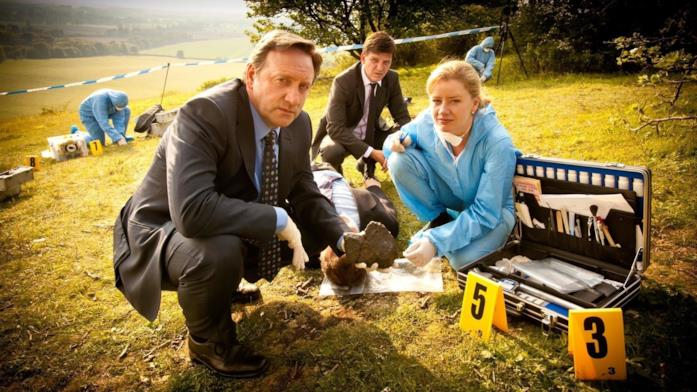 I tre protagonisti de L'Ispettore Barnaby in una foto di scena