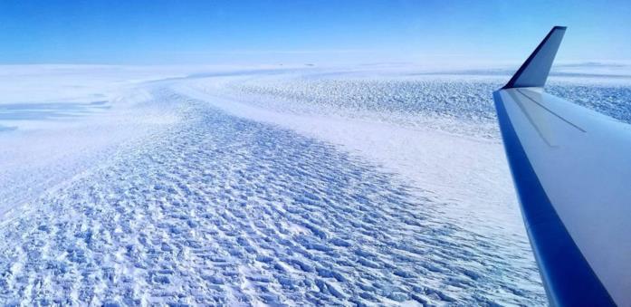 Uno scatto del ghiacciaio Denman