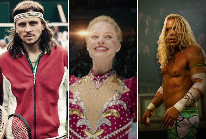 Da sinistra una immagine da BorgMcEnroe, Tonya e The Fighter