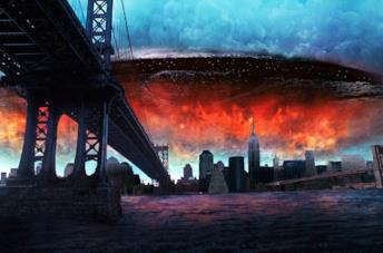 Una scena tratta da Independence Day