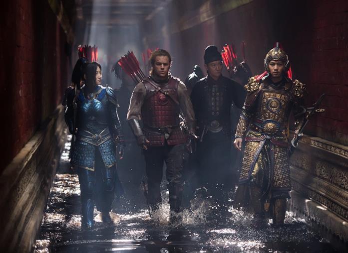 TianJing, Matt Damon, Andy Lau e Cheney Chen