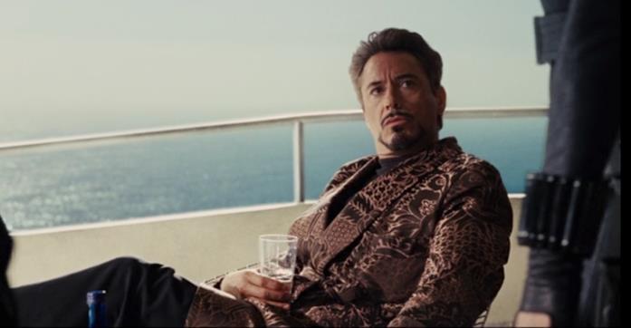 Tony Stark sul terrazzo di casa sua