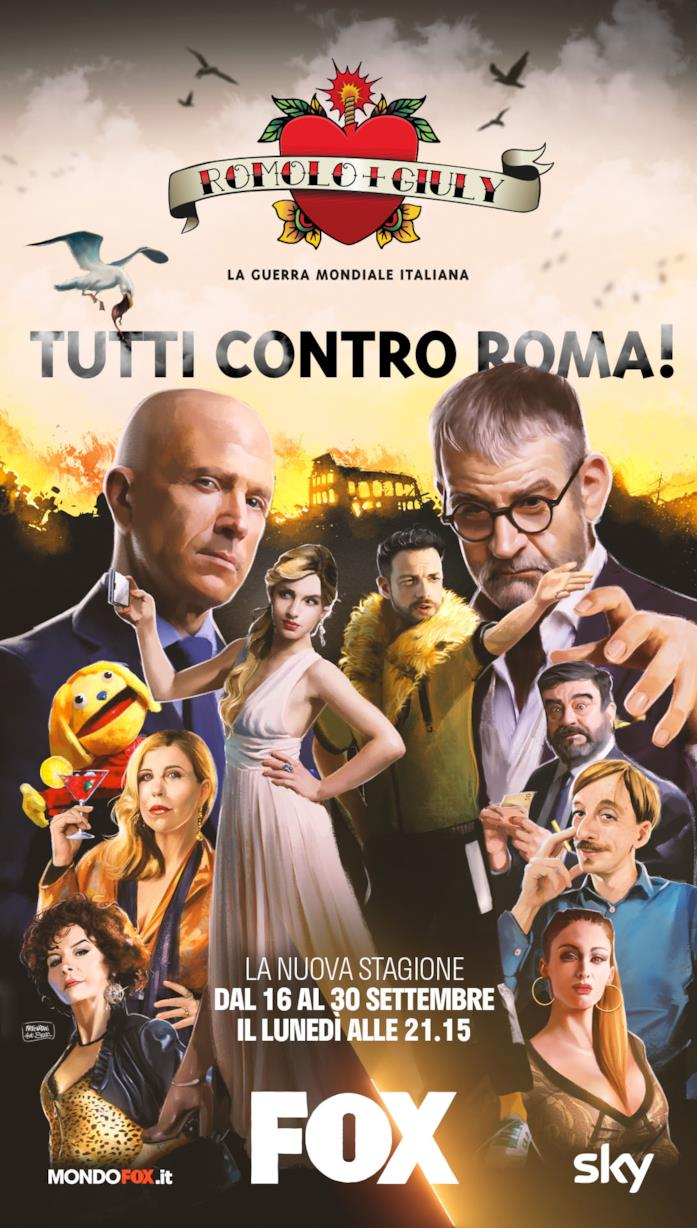 Il poster per la seconda stagione di Romolo e Giuly: la guerra mondiale italiana