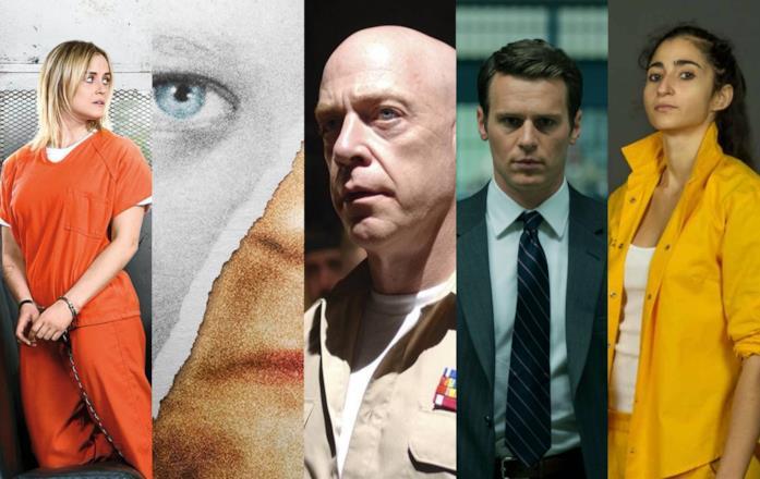 Collage di foto da serie consigliate ai fan di Prison Break