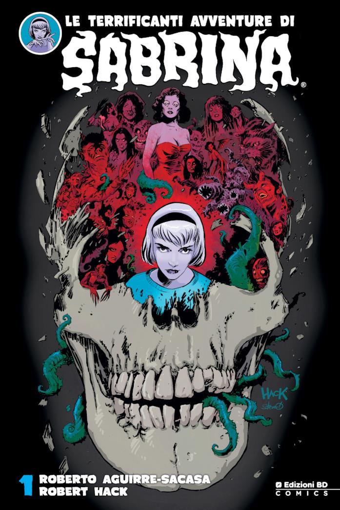 La cover del fumetto di Le terrificanti avventure di Sabrina