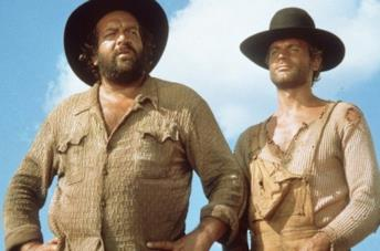 Primo piano di Bud Spencer e Terence Hill