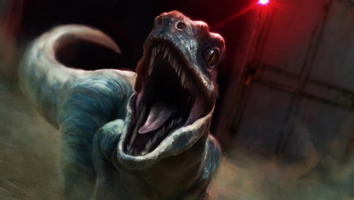 Un raptor in Jurassic World: Evolution