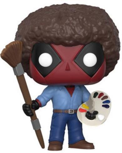 Funko- Pop Bobble Marvel Deadpool Playtime 70's w/Afro Personaggio, 9 cm, 30865