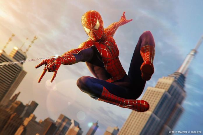 Peter Parker è interpretato da Tobey Maguire nel film del 2002
