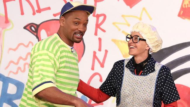 L'attore Will Smith con Ellen DeGeneres