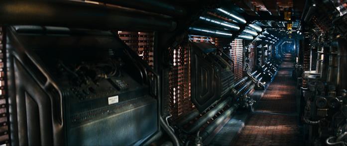 Uno dei corridoi della Nostromo