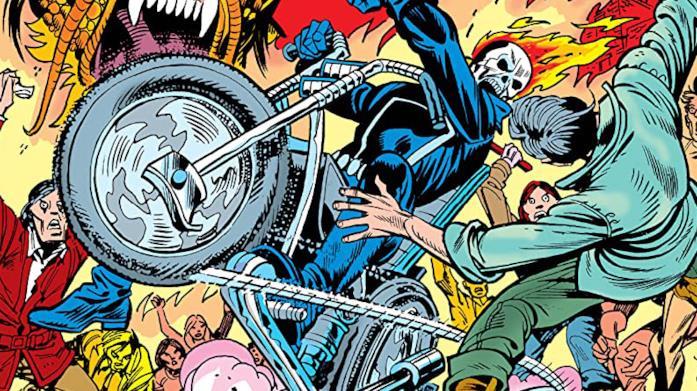 Dettaglio della cover di Ghost Rider Masterworks Vol. 2