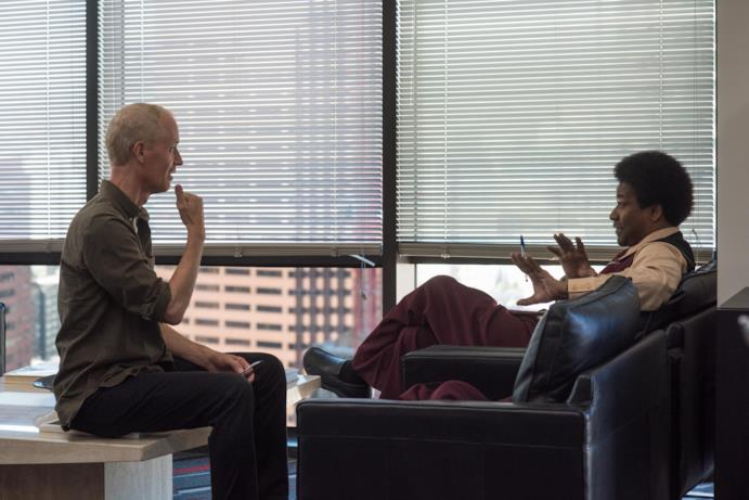 Denzel Washington ed il regista Dan Gilroy