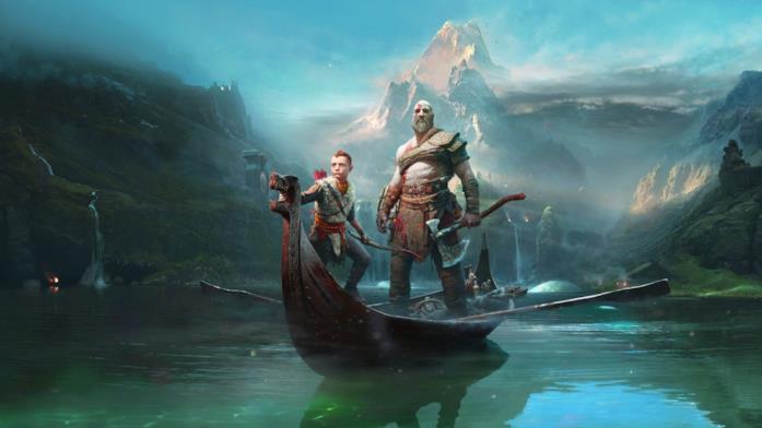 Kratos e il figlio Atreus in God of War