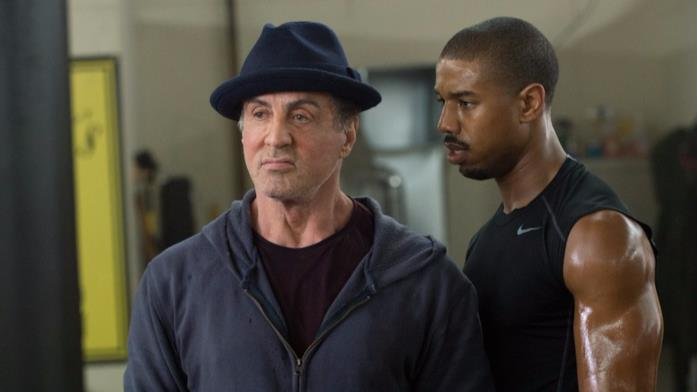 Sylvester Stallone e Michael B. Jordan in Creed