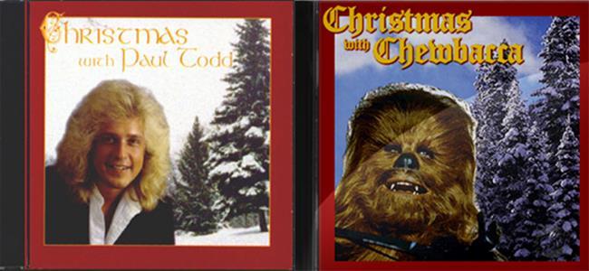 Le copertine dei CD di Paul Todd e Chewbacca a confronto