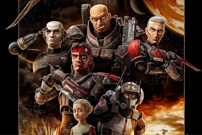 La Bad Batch nel poster della serie