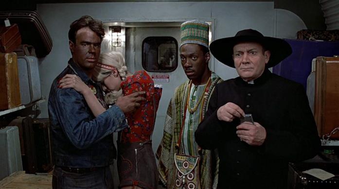 Un'immagine di Una poltrona per due che ritrae i protagonisti del film