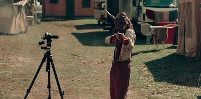 Matilda Lutz in una scena del film A Classic Horror Story