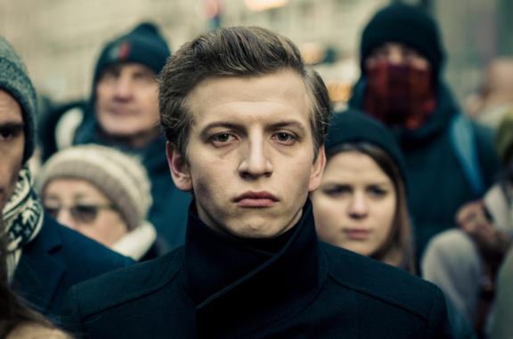 Un primo piano di Maciej Musiałowski nel film The Hater