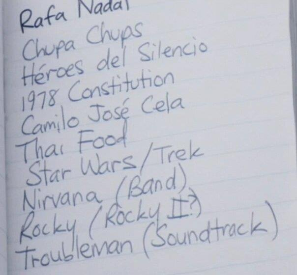 La versione spagnola della To-Do List di Cap