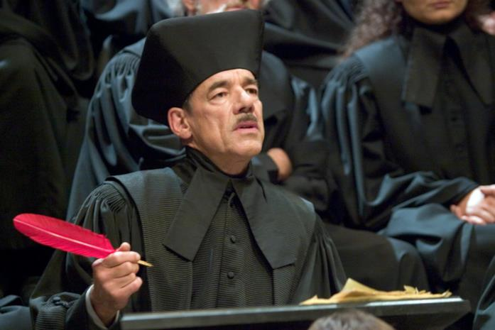 Barty Crouch Senior al tribunale magico.