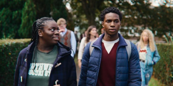 Jackson e Viv nella terza stagione di Sex Education