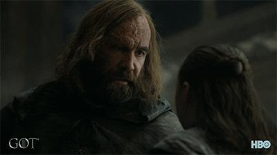 Sandor e Arya si dicono addio