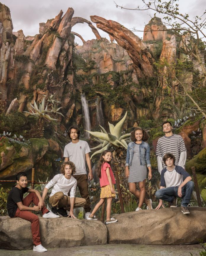 I bambini e i ragazzi del cast di Avatar 2
