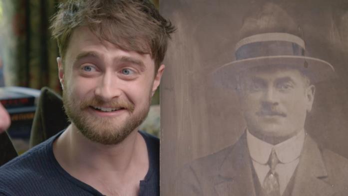 Daniel Radcliffe mostra una foto di Louis, il suo trisnonno