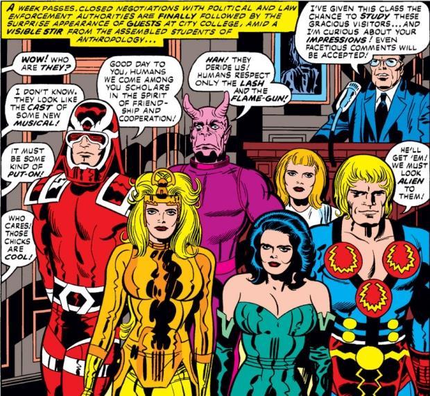 Gli Eterni nei fumetti