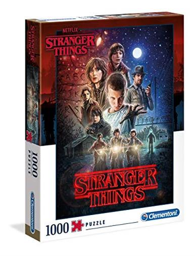 Clementoni - 39542 - Puzzle Stranger Things - 1000 Pezzi - Made In Italy - Puzzle Adulti Netflix