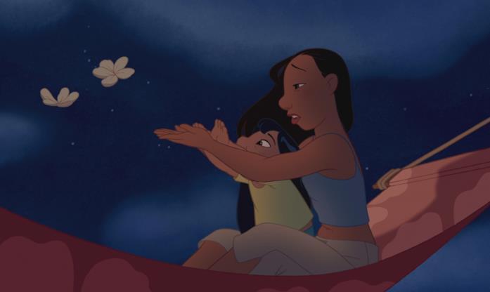 Una scena del film Lilo & Stitch