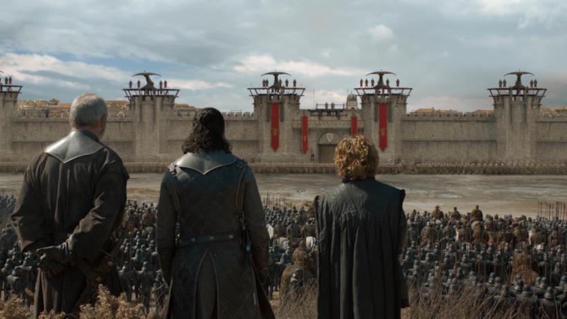 Game of Thrones 8x05: Ser Davos, Jon Snow e Tyrion ad Approdo del Re