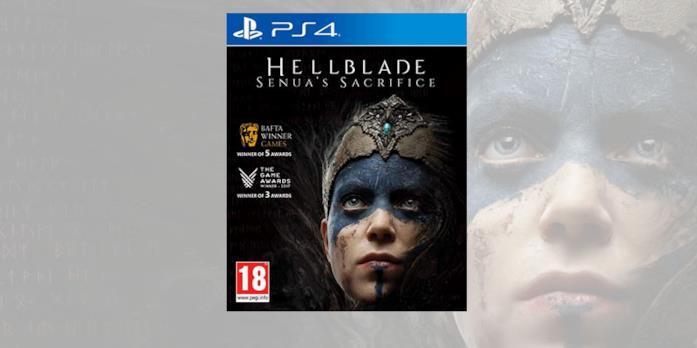 La boxart PS4 di Hellblade: Senua's Sacrifice in formato retail
