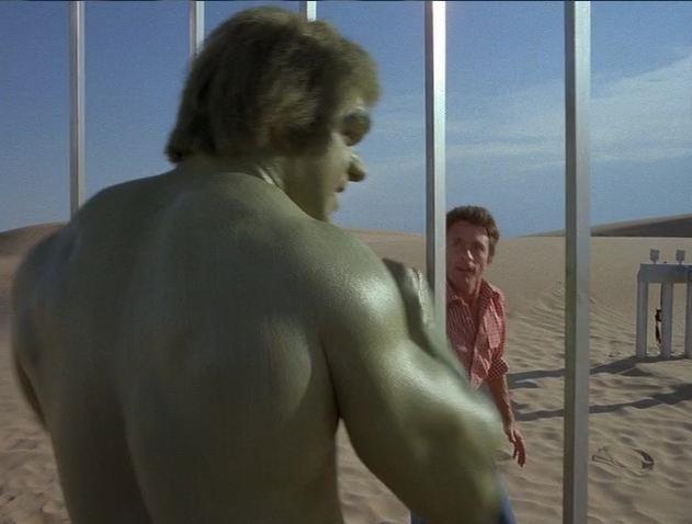 Hulk di Ferrigno con il Banner di Bixby