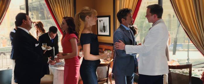 Elon Musk insieme a Robert Downey Jr in Iron Man 2